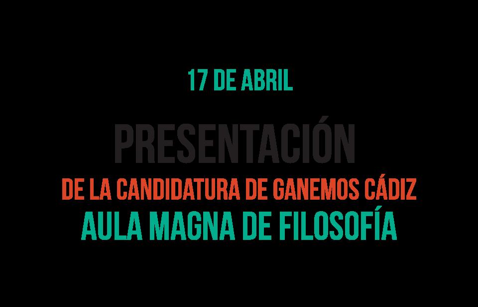 Presentación de Ganemos Cádiz