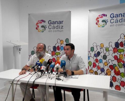 Rueda de prensa de Ganar Cádiz en Común