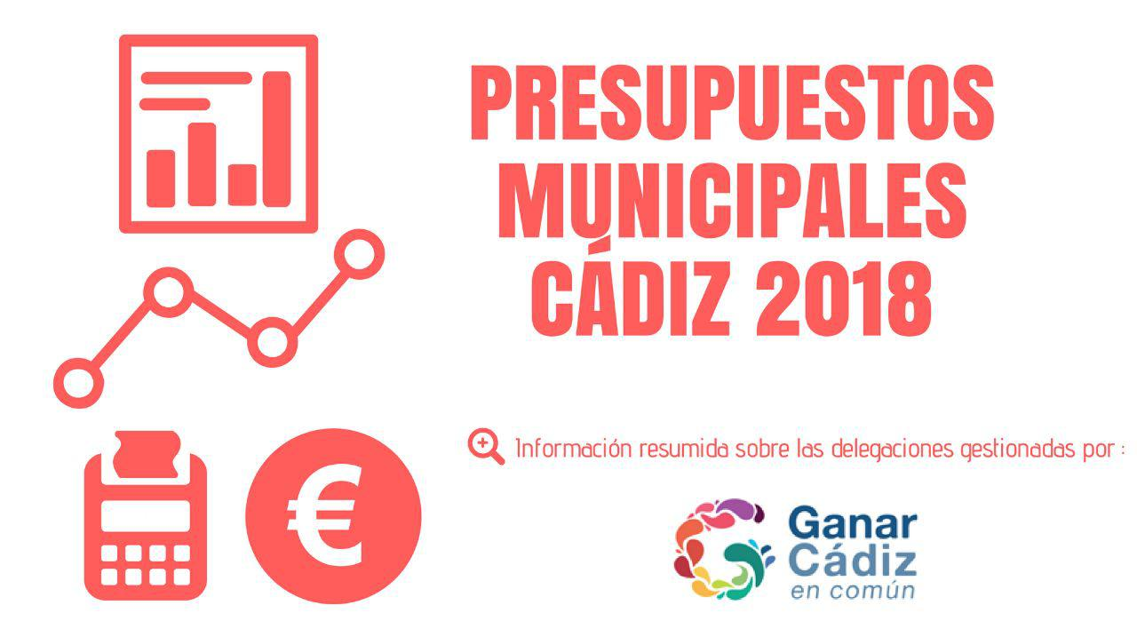 Ganar Cádiz, satisfecho por el acuerdo y su papel en los Presupuestos Municipales 2018