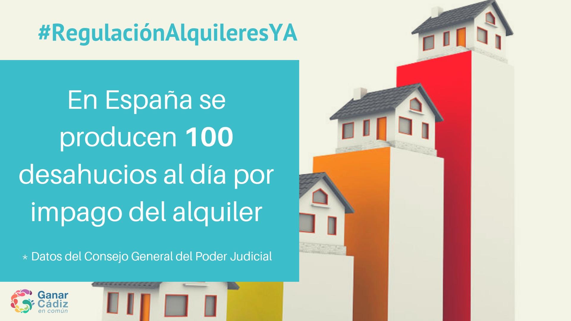 Ganar Cádiz considera esencial que el gobierno central reconsidere el control de los precios del alquiler